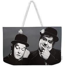 Laurel And Hardy Weekender Tote Bag