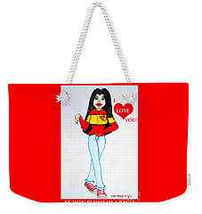 Weekender Tote Bag featuring the painting Laurita by Don Pedro De Gracia