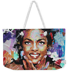 Weekender Tote Bag featuring the painting Lauryn Hill by Richard Day