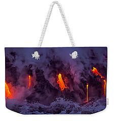Lava Drips Weekender Tote Bag