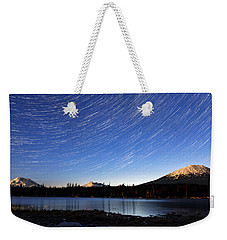Weekender Tote Bag featuring the photograph Lava Lake Star Trails by Cat Connor
