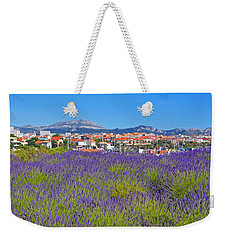 Lavendar Of Provence Weekender Tote Bag by Corinne Rhode