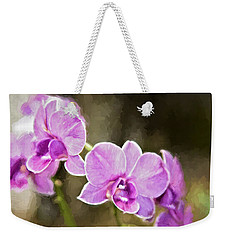 Lavendar Orchids Weekender Tote Bag by Lana Trussell