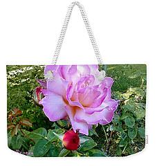 Lavendar Rose Weekender Tote Bag by Sadie Reneau