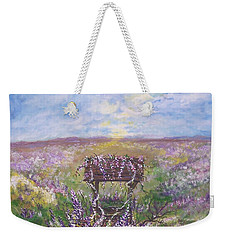 Weekender Tote Bag featuring the painting Lavendar Wishes by Leslie Allen