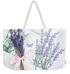 Weekender Tote Bag featuring the photograph Lavende by Rebecca Cozart