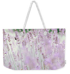 Weekender Tote Bag featuring the photograph Lavender 6 by Andrea Anderegg