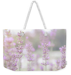 Weekender Tote Bag featuring the photograph Lavender 7  by Andrea Anderegg