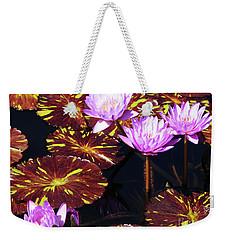 Lavender And Gold Weekender Tote Bag