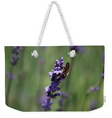 Lavender And Honey Bee Weekender Tote Bag