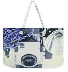 Lavender And Kodak Brownie Camera Weekender Tote Bag by Stephanie Frey