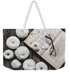 Weekender Tote Bag featuring the photograph Lavender And Old Lace by Kim Hojnacki