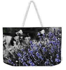 Lavender B And W Weekender Tote Bag