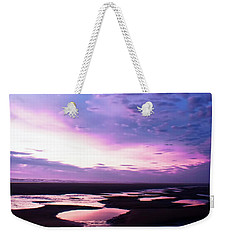 Weekender Tote Bag featuring the photograph Lavender Beach Sunset by Tyra OBryant
