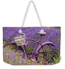 Lavender Bike Weekender Tote Bag