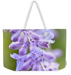Weekender Tote Bag featuring the photograph Lavender Blooms by Kerri Farley