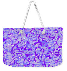Lavender Blue 1 Weekender Tote Bag by Linda Velasquez