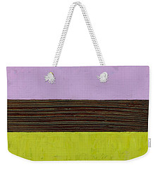 Lavender Brown Olive Weekender Tote Bag by Michelle Calkins
