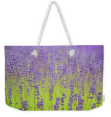 Weekender Tote Bag featuring the photograph Lavender Fantasy by Jani Freimann