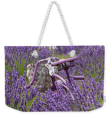 Lavender Farm Bike Weekender Tote Bag