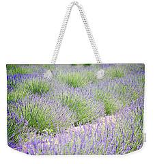 Lavender Field Farm Landscape Weekender Tote Bag by Andrea Hazel Ihlefeld