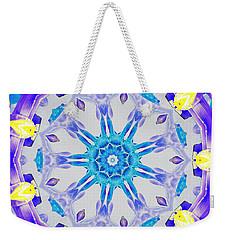Weekender Tote Bag featuring the digital art Lavender Floral by Shawna Rowe