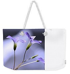 Lavender Flowers Weekender Tote Bag by Kathy Eickenberg