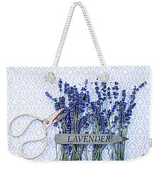 Weekender Tote Bag featuring the photograph Lavender Garden by Rebecca Cozart
