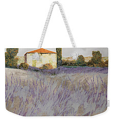Lavender Weekender Tote Bag by Guido Borelli