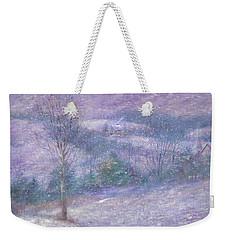 Lavender Impressionist Snowscape Weekender Tote Bag