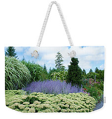 Lavender In The Middle Weekender Tote Bag by Lois Lepisto
