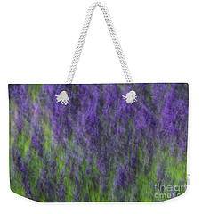 Weekender Tote Bag featuring the photograph Lavender In The Wind by Rachel Cohen