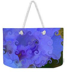 Lavender Curlicue Iris  Weekender Tote Bag