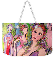 Lavender Ladies Fragrantly Smile  Weekender Tote Bag