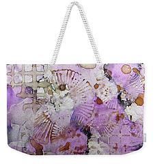 Weekender Tote Bag featuring the painting Lavender Mornings Ink #6 by Sarajane Helm