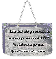 Lavender Path With Scripture Art Isiah 58 Weekender Tote Bag