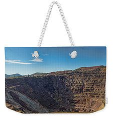 Weekender Tote Bag featuring the photograph Lavender Pit Mine by Dan McManus