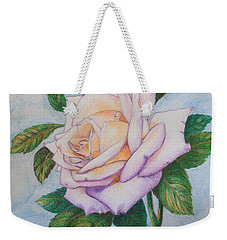 Lavender Rose Weekender Tote Bag by Marna Edwards Flavell