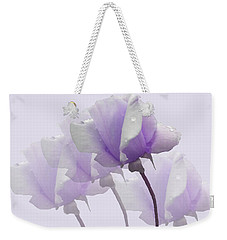 Weekender Tote Bag featuring the photograph Lavender Roses  by Rosalie Scanlon