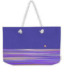 Weekender Tote Bag featuring the digital art Lavender Sea by Val Arie