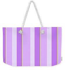 Weekender Tote Bag featuring the mixed media Lavender Stripe Pattern by Christina Rollo
