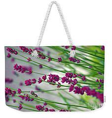 Weekender Tote Bag featuring the photograph Lavender by Susanne Van Hulst