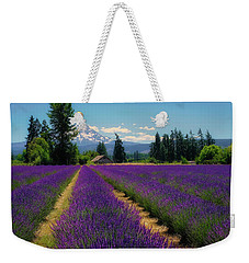 Weekender Tote Bag featuring the photograph Lavender Valley Farm by Robert Bellomy