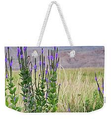 Lavender Verbena And Hills Weekender Tote Bag