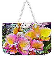 Lavender / Yellow  Weekender Tote Bag