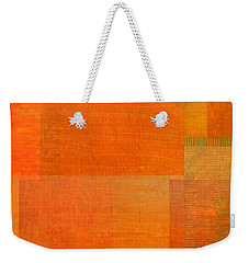 Layer Study - Orange Weekender Tote Bag