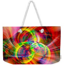 Weekender Tote Bag featuring the photograph Layered Swirls by Cathy Donohoue