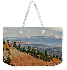 Weekender Tote Bag featuring the photograph Layers And Light At Bryce Canyon by Gaelyn Olmsted