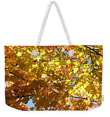 Weekender Tote Bag featuring the photograph Layers Of Autumn by Corinne Rhode