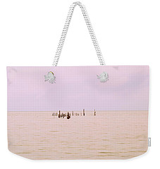 Weekender Tote Bag featuring the photograph Layers Of Calm by Deborah  Crew-Johnson